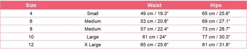 yoga bottom size chart - yooooga apparel