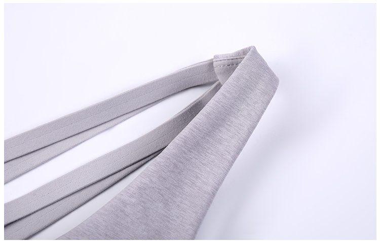 Sexy Backless Yoga Tank Shirt model show detail