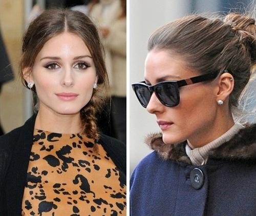 Olivia Palermo's glamorously glossy mane and perfect hairline
