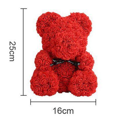 rose teddy bear siee chart