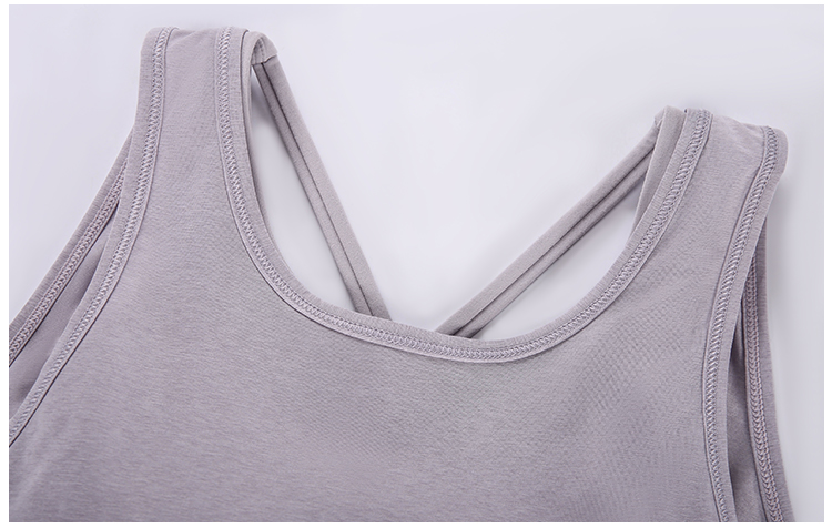 Workout Tank Tops with Bra detail