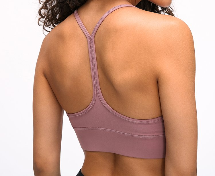 Y Shaped Backless Strappy Sports Bra