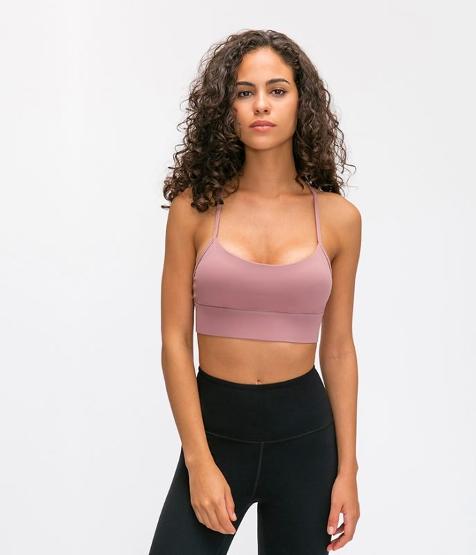Y Shaped Backless Push Up Sports Bra